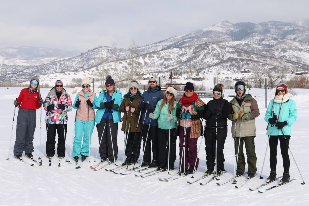 Group Cross Country Skiing Photo